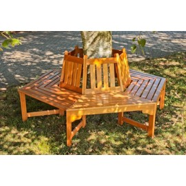 banc de jardin banc poser autour d 39 un arbre en bois ontario pas cher. Black Bedroom Furniture Sets. Home Design Ideas