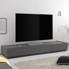 Banc Tv Design Gris 3 Tiroirs Valerona Achat Et Vente Rakuten