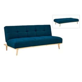 banquette clic clac scandinave 3 places bleu jessy achat et vente. Black Bedroom Furniture Sets. Home Design Ideas