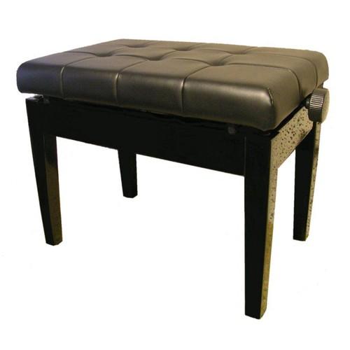 banquette pour piano simili cuir noir 57cm x 37cm hauteur minimum de 54cm et maximum de 62 cm. Black Bedroom Furniture Sets. Home Design Ideas