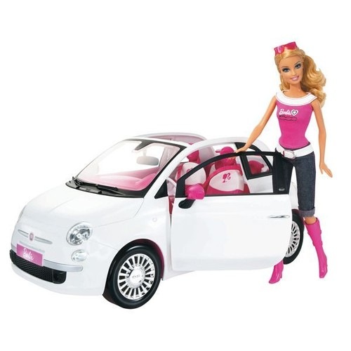 barbie et sa fiat 500 blanche achat vente de jouet priceminister rakuten. Black Bedroom Furniture Sets. Home Design Ideas