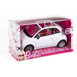 barbie et sa fiat 500 blanche achat et vente. Black Bedroom Furniture Sets. Home Design Ideas