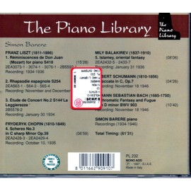 Liszt Réminiscences de Don Juan Rhapsodie espagnole Etude de concert Chopin  Scherzo N° 3 Balakirev Islamey Schumann Toccata op 7 Bach Fantaisie