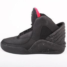 Basket Supra Noir Et Rouge