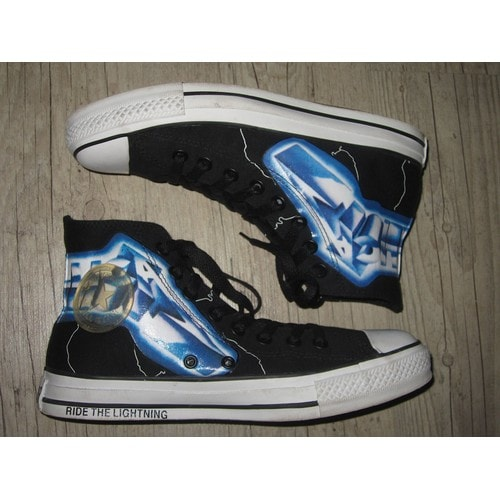 fbc51af47f1566 Baskets converse hard-rock neuves - metallica - ride the lightning (Taille  40 41) Converse All Star High Chuck Taylor
