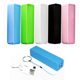 batterie de secours externe powerbank cable chargeur usb iphone samsung sony 2600mah. Black Bedroom Furniture Sets. Home Design Ideas