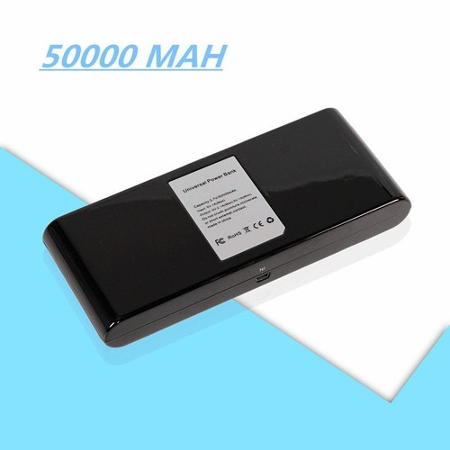 50000mah batterie externe 2 ports usb de secours chargeur portable avec pour iphone ipad samsung. Black Bedroom Furniture Sets. Home Design Ideas