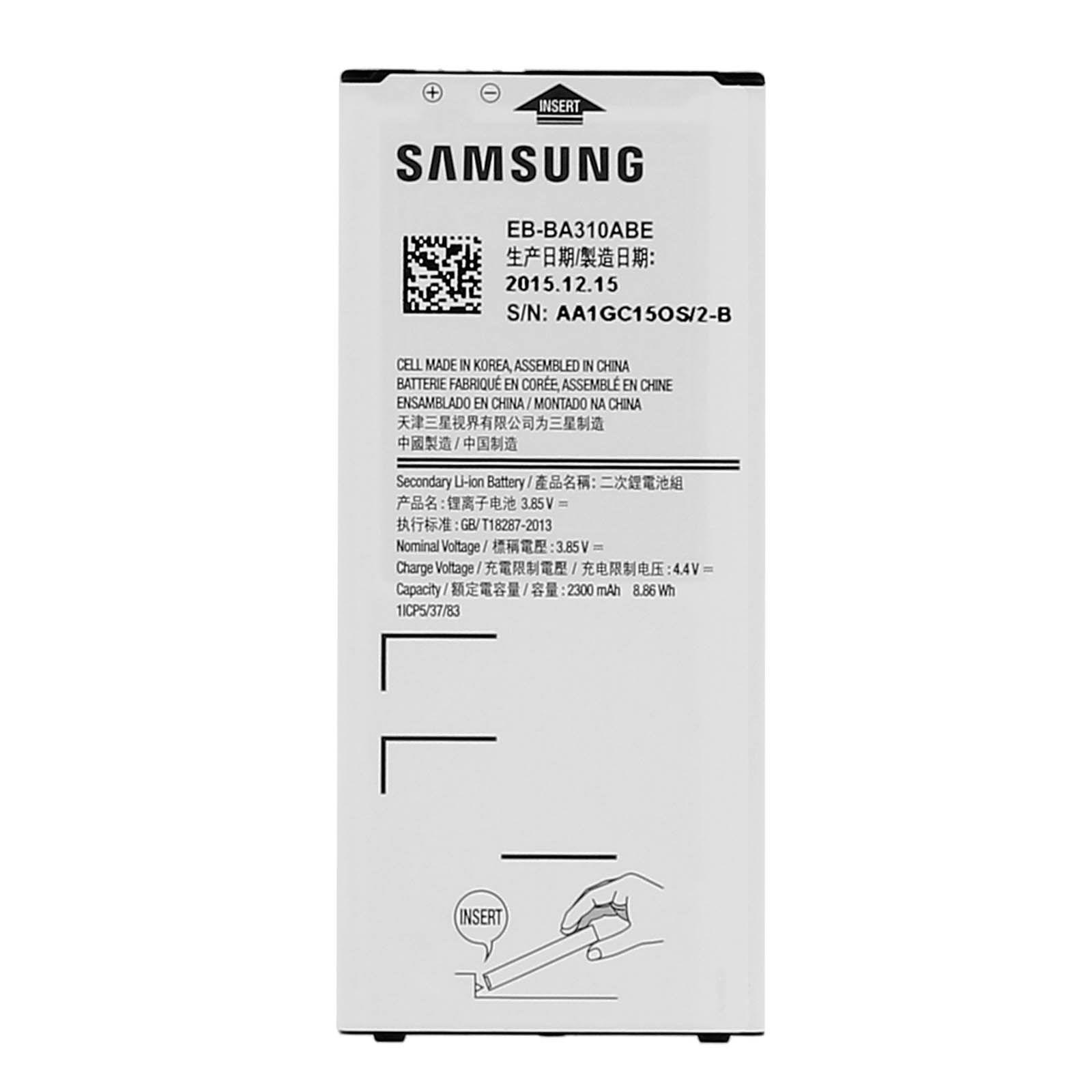 batterie original samsung galaxy a3 2016 samsung eb ba310abe 2300mah. Black Bedroom Furniture Sets. Home Design Ideas