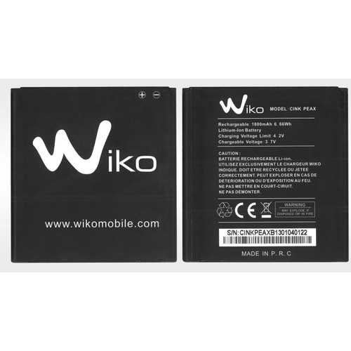 batterie wiko cink peax 1800 mah pas cher priceminister. Black Bedroom Furniture Sets. Home Design Ideas