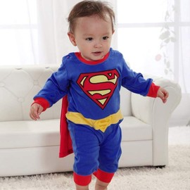 b b gar on fille d guisement superman costume superbaby super h ros combinaison grenouill re. Black Bedroom Furniture Sets. Home Design Ideas