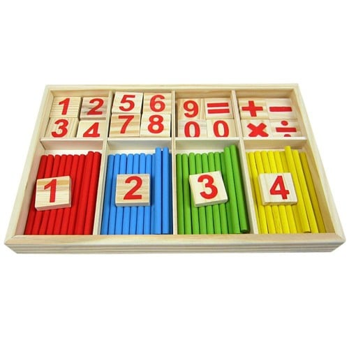 b b jouet bois blocks montessori jouets ducatifs mathematical intelligence stick building. Black Bedroom Furniture Sets. Home Design Ideas
