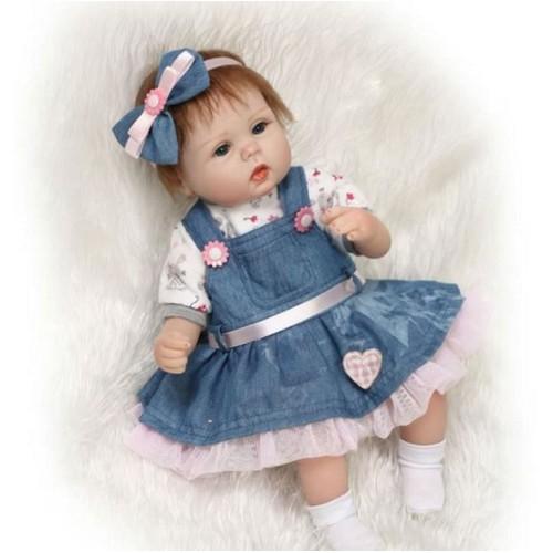 premier baby doll reborn r aliste b b cheveux enracin e. Black Bedroom Furniture Sets. Home Design Ideas