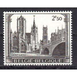 Belgique 1971 : Ville De Gand : Monuments Caract�ristiques De La Ville De Gand - Timbre 2 F. 50 S�pia Neuf **