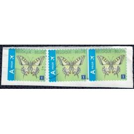 Belgique Lot 3 Oblit�r�s Used Papillon Butterfly Papilio Machaon Su