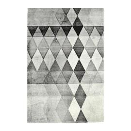 Belis Tapis De Salon Contemporain 80x150 Cm Gris Blanc Et Noir