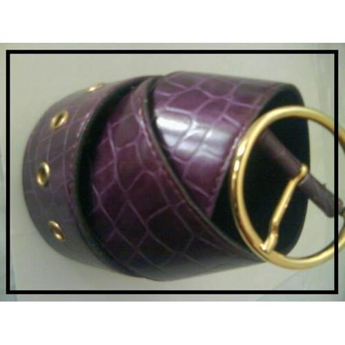 Belle Ceinture Large Violette - Type Serre-Taille Serre Taille - Qualité  Made In Italy - Simili Cuir De ... 96b63fbd018