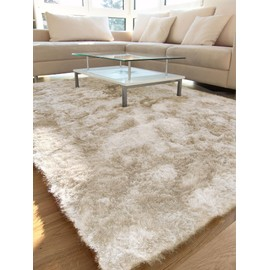 benuta tapis poils longs whisper beige 200x200 cm achat et vente. Black Bedroom Furniture Sets. Home Design Ideas