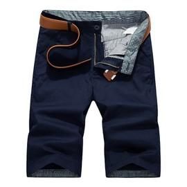 e2f388587797 Bermuda Homme Coton Short Droit Mode Loisir Short Couleur Unie Pantacourt  Homme Zs0003