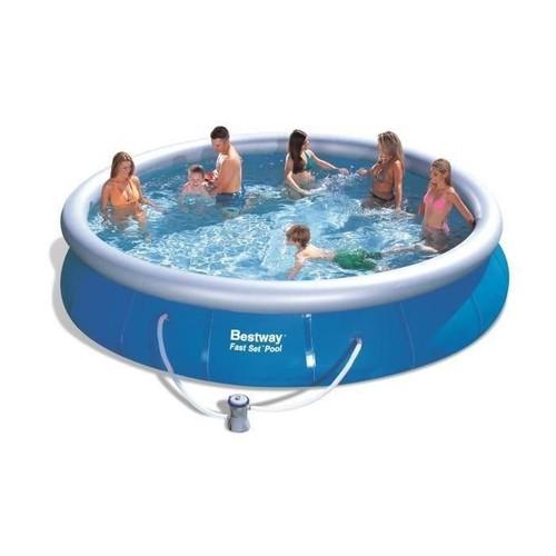 bestway fast set pools piscine ronde autoportante 4 57 x 0 84 m. Black Bedroom Furniture Sets. Home Design Ideas