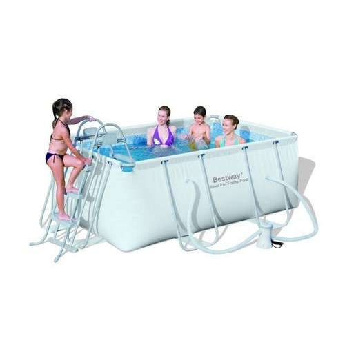 Bestway steel pro kit piscine rectangulaire tubulaire 2 for Piscine tubulaire bestway