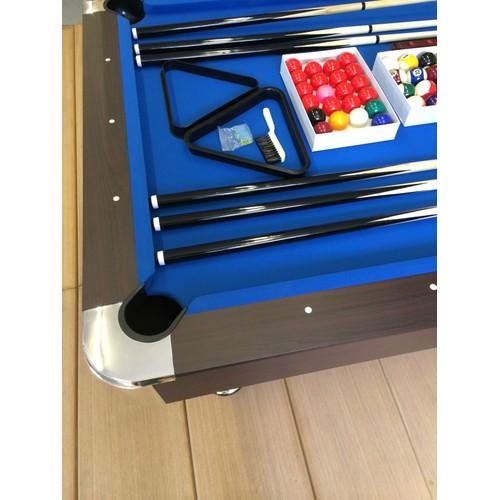 billard americain 8 ft 250cm table de pool snooker meuble salon table de billard bleu. Black Bedroom Furniture Sets. Home Design Ideas