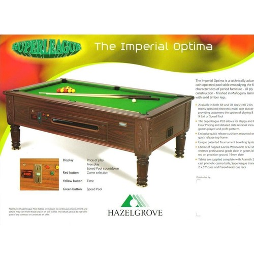 Billard superleague pool anglais table pro autre neuf et d - Dimension table de billard ...
