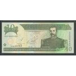 Billet De 10 Pesos Oro Dominicana 2002