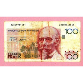 Billet De Banque Nota Banknote Bill 100 Francs Honderd Frank Belgique Belgium Belgica