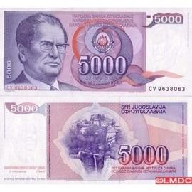 billet de banque yougoslave