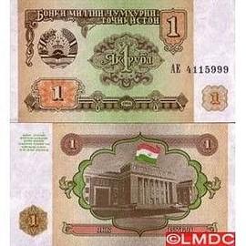 billets de banque tadjikistan 1 ruble neuf et d 39 occasion. Black Bedroom Furniture Sets. Home Design Ideas