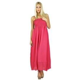 7345205ab0e bimba-femmes-long-maxi-dress-2-pieces-georgette-flowy-smocks-robe-rose -1124012688 ML.jpg
