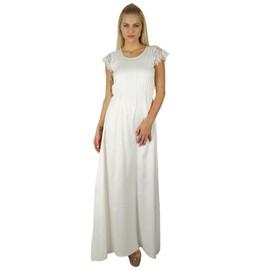 d4bcd5ed68c29 Bimba Femmes Robe Longue Blanche Robe En Dentelle Manches Chic Vêtements  Décontractés Maxi