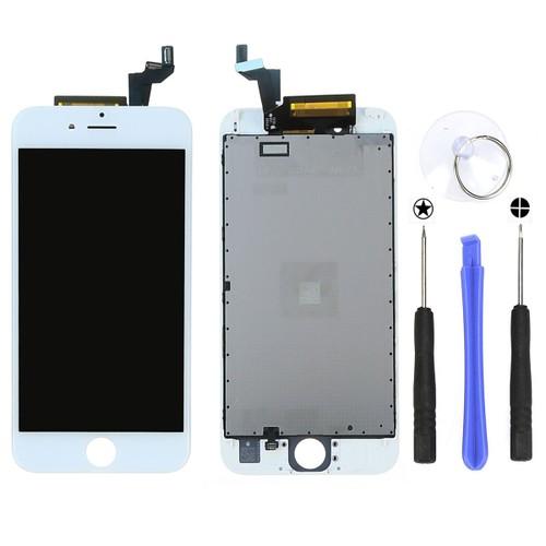 blanc cran lcd vitre tactile sur ch ssis pour iphone 6s 4 7 outils de r paration. Black Bedroom Furniture Sets. Home Design Ideas