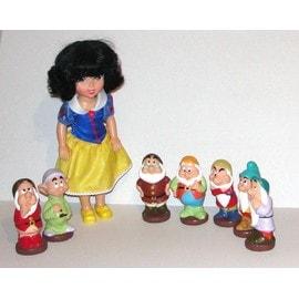 Blanche Neige Et Les 7 Nains Poup�es Blanche Neige 34cm Et 7 Nains Pouet Pouet 14cm Disney