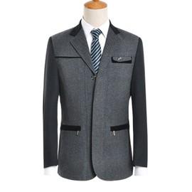 Costume Homme Revers Veste En Poche Décoration Blazer De FTzw00q