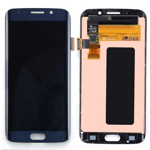 Bleu complet cran tactile vitre lcd pour samsung galaxy for Samsung s6 photo ecran