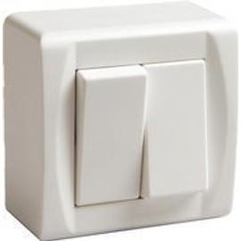 Bloc double interrupteur electrique va et vient pas cher - Interrupteur design pas cher ...