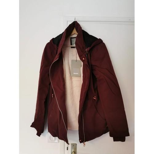 Bordeaux Bench capucha Size S Fleece Chaqueta Chaqueta con Woman deBrCox