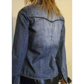 Cintré 36 Chemise Délavé Blouson Veste Jean Taille Colori Femme Bleu 8xYWqWaOAn
