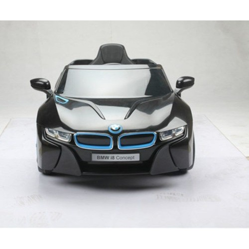 bmw i8 noire version luxe voiture electrique enfant 12v2. Black Bedroom Furniture Sets. Home Design Ideas