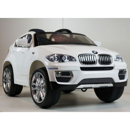bmw x6 blanc voiture lectrique enfant 12 volts 2 moteurs. Black Bedroom Furniture Sets. Home Design Ideas