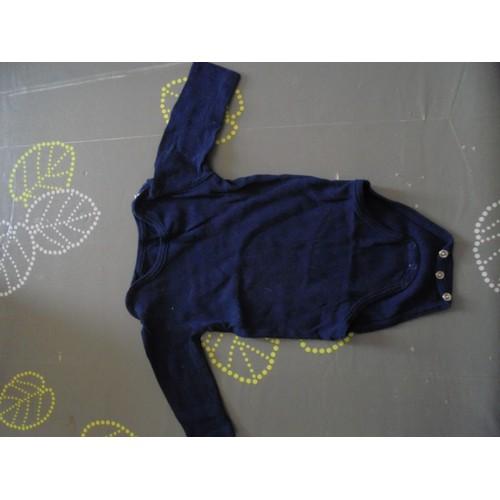 body bout 39 chou coton 6 mois bleu marine achat et vente. Black Bedroom Furniture Sets. Home Design Ideas