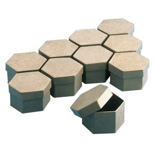 boite en carton hexagonale 78mm lot de 10 priceminister rakuten. Black Bedroom Furniture Sets. Home Design Ideas