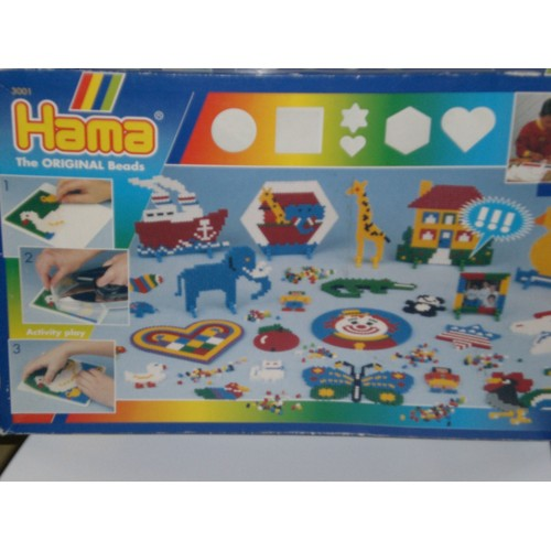 Boite jeu hama 3001 perles a repasser the original beads - Boite a the originale ...