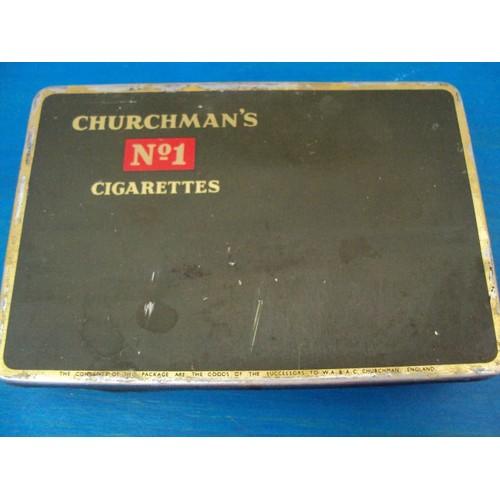 boite metal cigarettes churchman 39 s vintage neuf et d 39 occasion. Black Bedroom Furniture Sets. Home Design Ideas