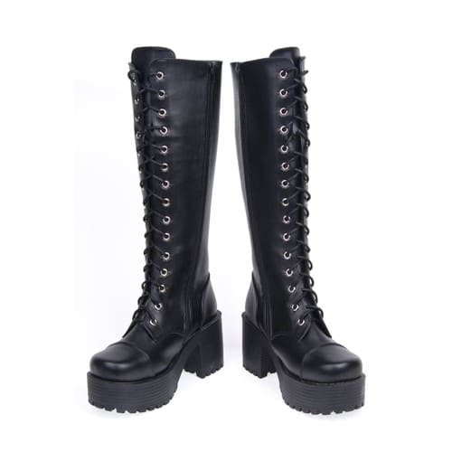 bottes hautes bottines boots chaussures creepers emo punk lolita gothique rock visual kei. Black Bedroom Furniture Sets. Home Design Ideas