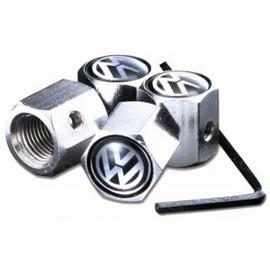 bouchon de valve antivol vw jeu de 4 bouchons accessoire voiture auto tuning. Black Bedroom Furniture Sets. Home Design Ideas