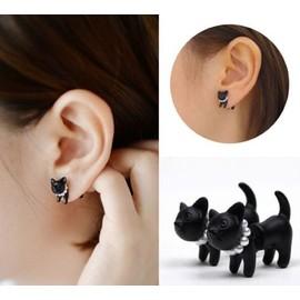 boucle d'oreilles chat