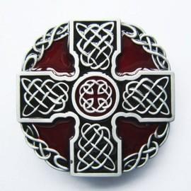 93a265343437 hotrodspirit - boucle de ceinture celtic croix celte rouge homme femme