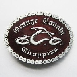 boucle de ceinture orange county choppers biker chaine moto west coast harley davidson. Black Bedroom Furniture Sets. Home Design Ideas